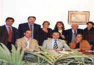I fondatori del Movimento Turismo del Vino Puglia nello Studio del notaio Guaragnella a Bari